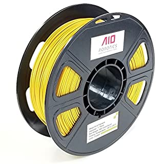 AIO Robotics AIOMETALGOLD PLA 3D Printer Filament, 0.5 kg Spule, Durchmesser 1.75 mm, Metall Gold