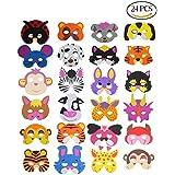 Ccinee Lot 16assorties enfants masques d'animaux en mousse pour Lots cadeaux de fête, Lot de 24