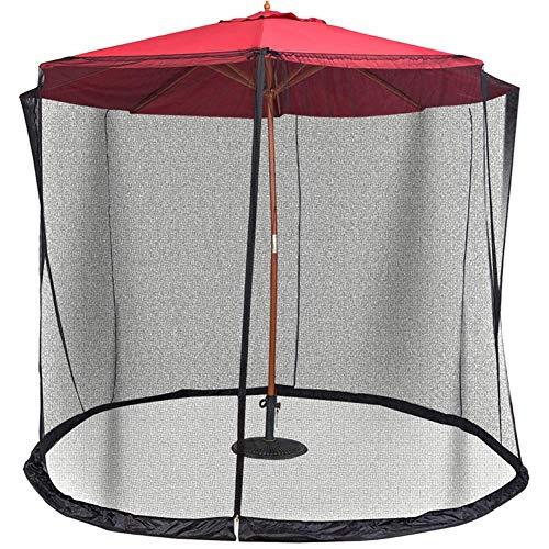 Liamostee Patio-Regenschirm-Moskitonetz-Maschensieb mit Reißverschluss für Schirm-Patio-Tische