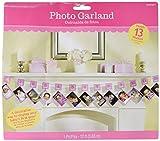 Amscan 220109 - Festone con glitter, porta-foto, per il primo compleanno, rosa