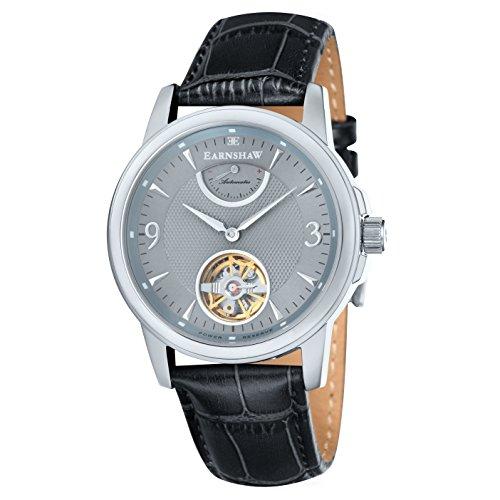 Thomas Earnshaw - ES-8014-04 - Flinders - Montre Homme - Automatique Analogique - Cadran Noir - Bracelet Cuir Noir