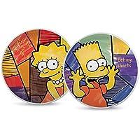 The Simpsons pts37t/2vis Set Pizzateller, Typ Bart/Lisa, Porzellan, Mehrfarbig, 2Einheiten