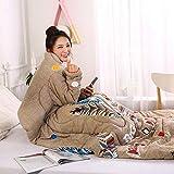 Blankets Multifunktion Faule Quilt Mit Ärmeldecken Herbst Winter Gewaschenes Warmes Bett Sofa150 * 200Cm / 59 * 78.7Inch,G