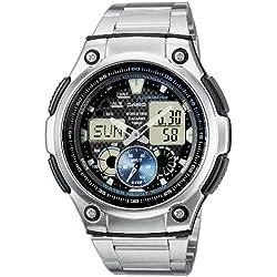 Casio Collection Reloj Analógico/Digital de Cuarzo para Hombre con Correa de Acero Inoxidable – AQ-190WD-1AVEF