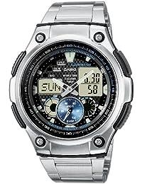 Casio Collection – Reloj Hombre Analógico/Digital con Correa de Acero Inoxidable – AQ-190WD-1AVEF
