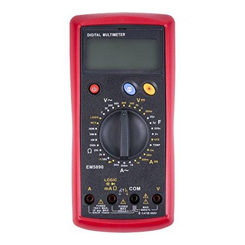 STIER Digital-Multimeter   2 - 600 V AC / 0,2 - 600 V DC CAT III 600 V   Multitester   Widerstände, Kapazitäten, Temperaturen, Diodentest, Durchgangsprüfung uvm.  