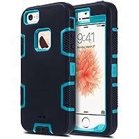 amazon co uk iphone 5s cases \u0026 covers accessories electronicsulak iphone 5s case, iphone se case 3in1 shockproof combo hybrid hard rigid pc