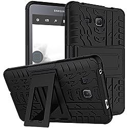 XITODA étui Galaxy Tab A6 7.0,Pochette pour Samsung Tab A 7 Pouces, Hybrid Armor Etui Dur Cover Kickstand Coque pour Samsung Galaxy Tab A 7.0 inch 2016 SM-T280/T285 Housse de Protection - Noir