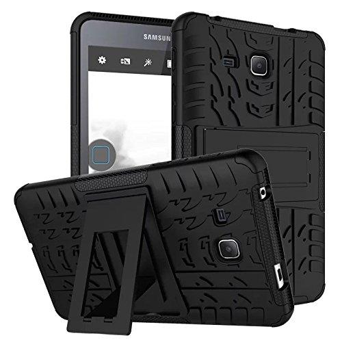 XITODA Galaxy Tab A6 7.0 Case,Hülle für Samsung Tab A 7 Hybrid Armor Cover Tough Tasche Tablet Case für Samsung Galaxy Tab A 7.0 Zoll 2016 (SM-T280/T285) Tablet Schutzhülle mit Kickstand - Schwarz (Für Tablet-cover 7 Samsung)