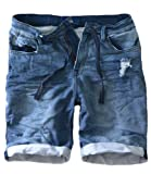 Eight2Nine Sweat Jeans Short Denim Beach Jogger Shorts kurze Hose dunkelblau, W33