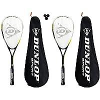 Dunlop Squashset 2 Squashschläger inkl Squashball