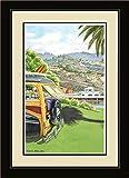 Northwest Art Mall ed-6063fgdm Malibu Pier von Art Wand von Künstlerin Evelyn Jenkins Drew, 40,6x 55,9cm