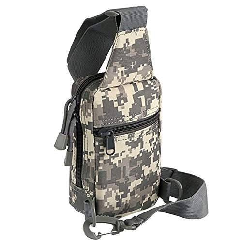 Schulter Messenger Bag Tragetasche Brusttasche,Multifunktionales,Outdoor-Sportarten,Beetest bunt