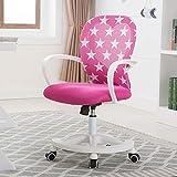 DESK CHAIR Verstellbar Student Gaming Stuhl Schreibtischstuhl Mitte des Rückens Ergonomische Netzrücken Drehstuhl Bürostuhl Schreibtischstuhl-Rosa 45x60x92cm(18x24x36)