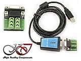 Kalea Informatique Konverter USB auf RS422RS485Chipsatz FTDI FT232–Kabel 1.8m–Schutz magnetisch–Den Einbau eines Material 485RS-422auf einen einfachen Port USB