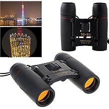 30x 60Zoom Mini plegable de viaje día visión nocturna prismáticos telescopio de visión nocturna para actividad al aire libre senderismo, Climbiing, observación de aves, barcos etc.