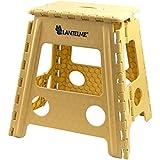 Lantelme - Taburete plegable (44 cm de altura, máx. 120 kg) Material: polipropileno.
