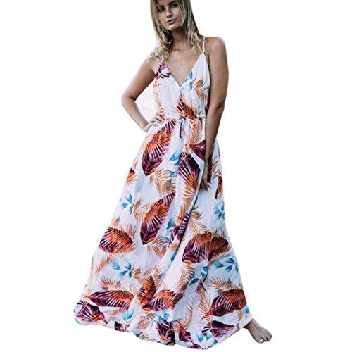 1090126bbc524b Preisvergleich Produktbild Kleider Damen Dasongff Damen Kleider Elegant  Sommer Boho Lange Maxi Kleid Blumenmuster Abendgesellschaft Kleid