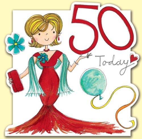 Eccezionale Rachel Ellen-Biglietto di auguri per compleanno di 50 anni, da donna TG22