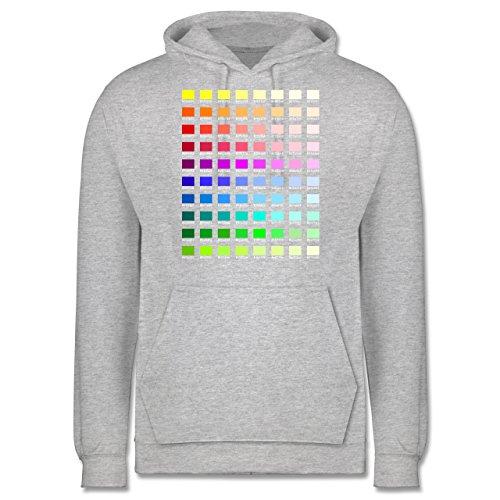 Nerds & Geeks - Farbtabelle - HEX - Männer Premium Kapuzenpullover / Hoodie Grau Meliert