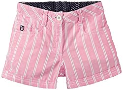 US Polo Association Girls Shorts (UGST5022_Lt. Pink_8 - 9 years)