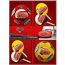 POS 24 Molde Muffins & Banderas | Disney Cars | Decoración | Conjunto Hornear
