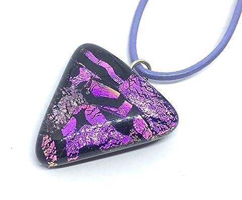 Dichroic Glass Pendant - Handmade, 2.8cm - Includes Gift Box