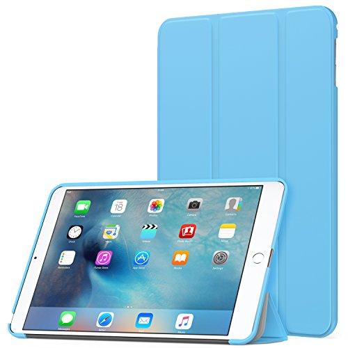 MoKo Hülle für iPad Mini 4 - Ultra Slim Lightweight Schutzhülle Smart Cover mit Auto Schlaf/Wach Funktion und Standfunktion für Apple iPad Mini 4 7.9 Zoll IOS 2015 Genaration Tablet, Hellblau