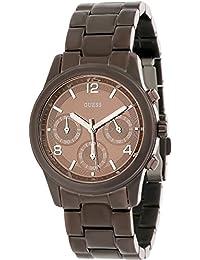 Guess Damen-Armbanduhr XL Analog Quarz Edelstahl W17543L1