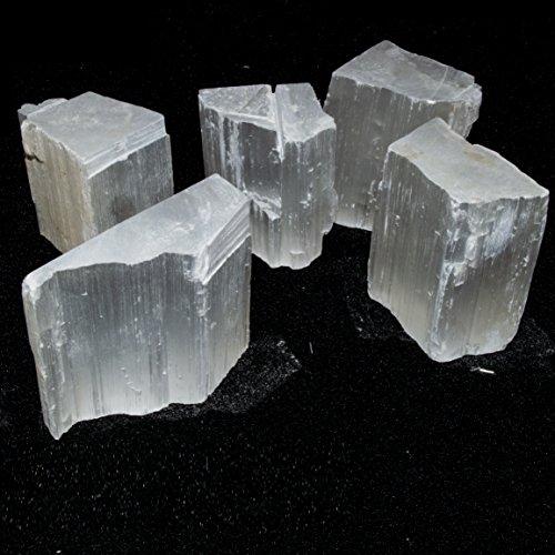 Crocon selenite bulk grezzi naturali di pietra preziosa rough cristalli per la guarigione tumbling cabbing lucidatura, pietra, selenite, 0,45 kg
