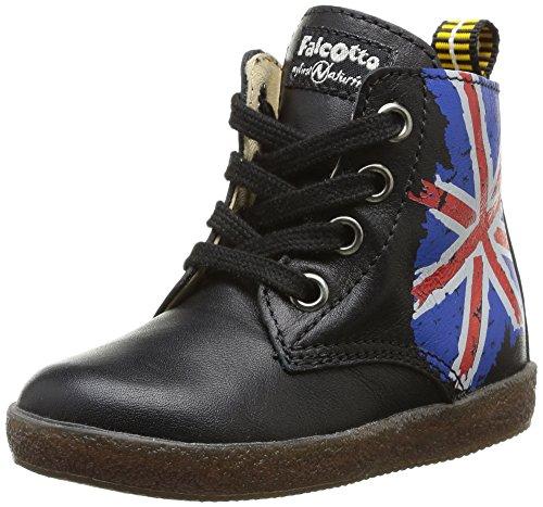 Falcotto 1347, Chaussures de ville mixte enfant Noir (01 9101 Vitello Nero)