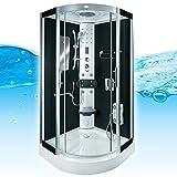 AcquaVapore DTP8046-1300 Dusche Duschtempel Komplett Duschkabine 90x90, EasyClean Versiegelung der Scheiben:2K Scheiben Versiegelung +89.-EUR