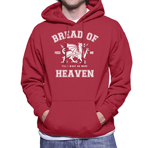 Rugby Welsh Hymn Bread of Heaven Dragon Men's Hooded Sweatshirt