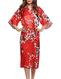 Dolamen Women s Dressing Kimono Gown ddef77aa9