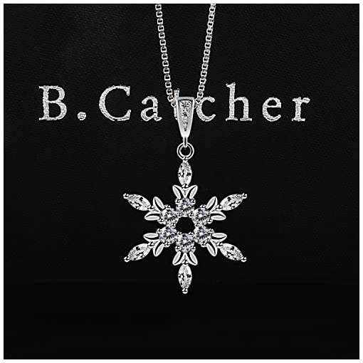 58036d145 ... B.Catcher Sterling Silver Snowflake Necklace Crystal Cubic Zirconia  Charm. On Sale. Free Shipping Free Shipping