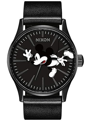 Nixon Damen Analog Quarz Uhr mit Leder Armband A105-3093-00 (Digital Mouse Mickey Watch)
