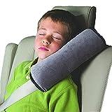 Da.Wa Auto Almohada del cinturón de seguridad del coche Proteja hombro almohada cojín amortiguador del vehículo Ajuste del cinturón de seguridad para los niños de los niños(Gris)