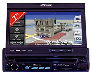 takara gpv 1207 in car dvd player with integrated gps 7 inch 16 9 motorised touch screen and sd. Black Bedroom Furniture Sets. Home Design Ideas