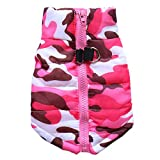 BT Bear® Puppy Coat,Small Dog Winter Coat Vest Puppy Soft Warm Coat Jacket Clothing Costume for Cats Puppy Small Dogs (X-Small-Back length 19cm, Hot Pink)