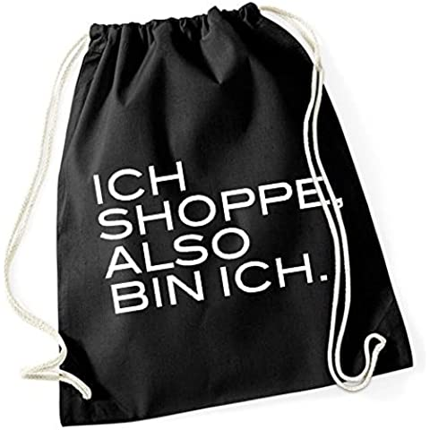 Ich Shoppe Also Bin Ich Bolsa De Gym Negro Certified Freak