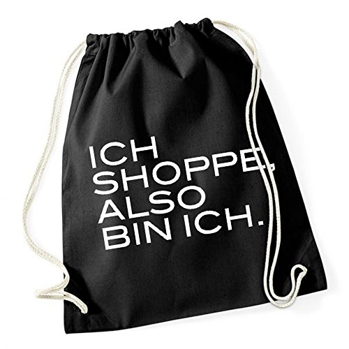 Ich Shoppe Also Bin Ich Gymsack Black Certified Freak (Barcelona Gym Sack)