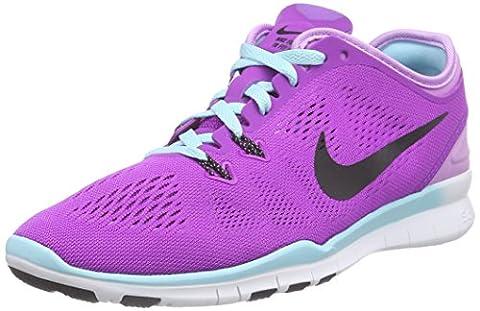 Nike Free TR 5.0 Fit 5, Damen Fitnessschuhe, Mehrfarbig (Vivid Purple/Black-Fchs Glw-Cp 500), 37.5