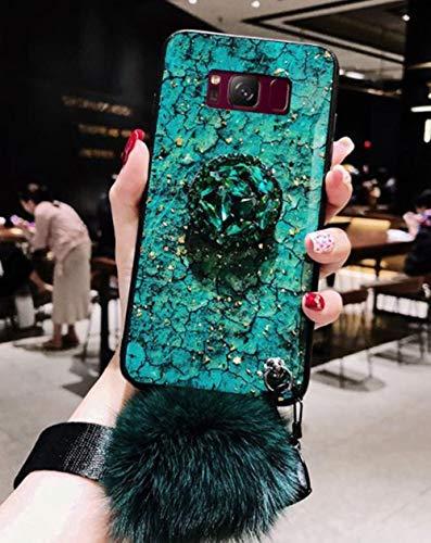 Lozeguyc Schutzhülle für Galaxy Note 9, mit Standfunktion, glitzerndes Glas, stoßfest, mit Standfunktion, für Samsung Galaxy Note 9 Samsung Galaxy S9 grün Samsung Us Cellular Handy