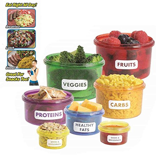 Portion Control Container Kit 7-teilig Effiziente Nutrition Healthy Food NEW - Portion Control Kit