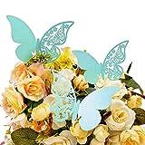 JZK 50 x Farfalla perlato blu segna posto segnaposto segnatavolo segnabicchiere bomboniera per matrimonio compleanno nascita battesimo comunione laurea festa Natale segna posti segnaposti segna bicchiere