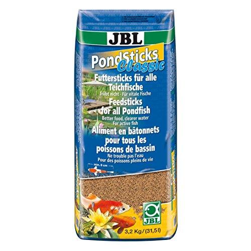 JBL 41004, Alleinfutter für alle Teichfische, Futtersticks PondSticks Classic, 1er Pack (1 x 31.5 l)