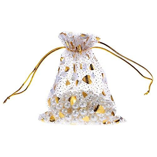K-Y 100Stück Silber-Tuch, mit Taschen Beutel Weihnachten Party Hochzeit Favor Geschenk Taschen, 7x 9cm 10cmx12cm