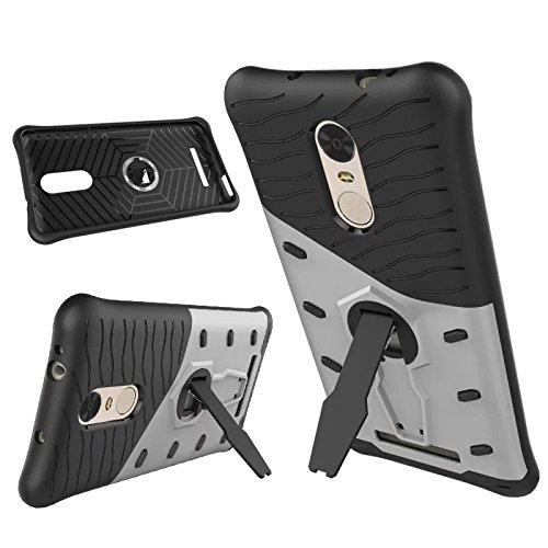 TarkanTM Xiaomi Redmi Note 3 Back Case Cover 360 Kickstand Original Sniper [Silver]