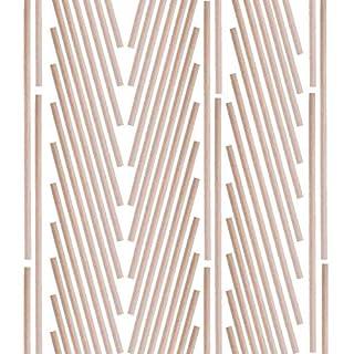 60 Stück lange Rundhölzer unbehandeltes Bambusholz Holzstab Bastelhölzer Basteln Bastelbedarf (6 mm x 30 cm)