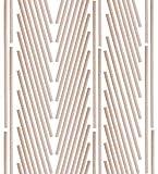 Pacco da 60 Bastoncini in Legno di Bambù Naturale per Creazioni Fai da Te, DIY e Progetti d'Arte (30 x 0,6 cm)